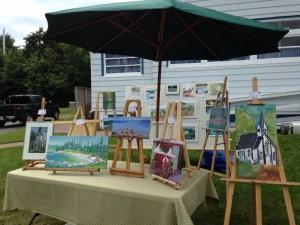 Hubbards display of fresh art